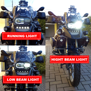Image 5 - Motos Accessories LED Headlight Assembly with DRL Original Complete for BMW R 1200 GS 2008 2009 2010 2011