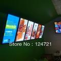 Placas Do Menu Iluminado LED, Publicidade De Alumínio a3 Levou Caixa de Luz Restaurante
