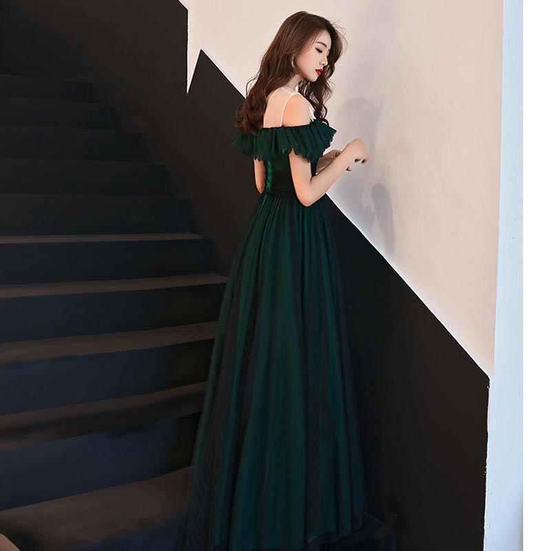 FADISTEE 2019 da sera di Nuovo arrivo di promenade del partito abiti Vestido de Festa abito Robe De Soiree del modello del merletto del piccolo nero lungo abito