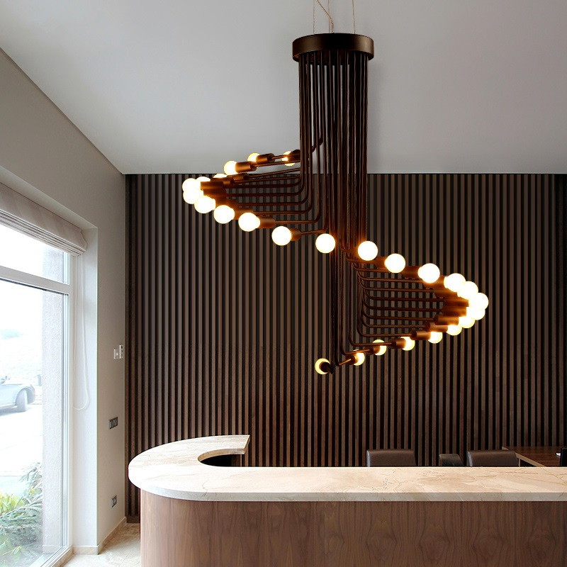 Lâmpadas led nordic moderno sala de estar iluminação luminárias bar lustre restaurante luzes penduradas café novidade lustres jantar