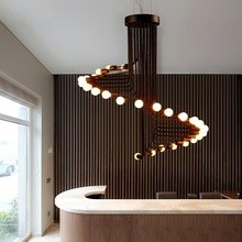 Modern LED Nordic lamps living room Lighting Fixtures bar chandelier restaurant hanging lights cafe novelty dining chandeliers cheap NoEnName_Null Touch On Off Switch 110-240V Polished YD10010 Shadeless Postmodern Semiflush Mount iron 3 years Contemporary