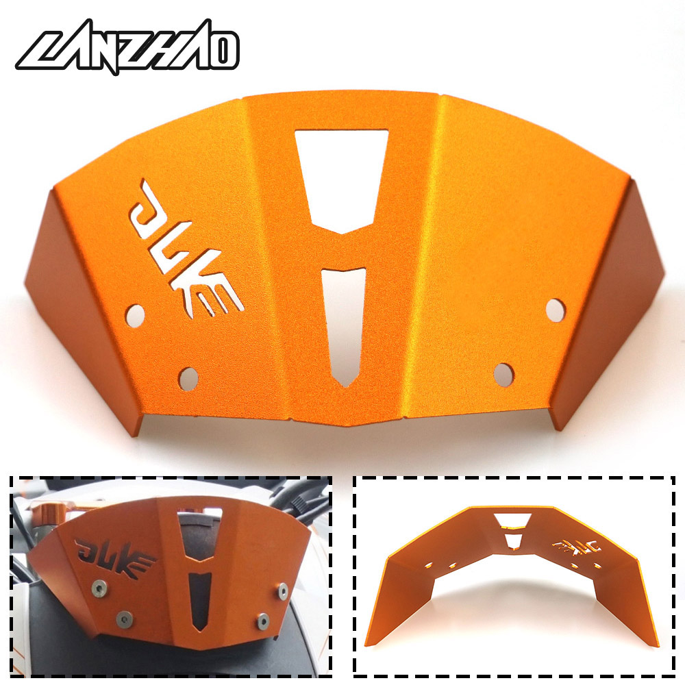 Orange Motorcycle Windshield CNC Aluminum Windscreen Accessories For KTM Duke 390 2013 2014 2015 2016 Duke 125 200 All Year