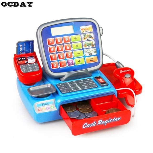 Ocday Pretend Play Toy Kids Supermarket Cash Register Electronic