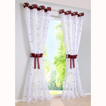 2018 Sale Curtains Living Room New High-density Yarn Embroidery Screens Tulle For Bedroom Window Sheer Eyelets Curtain