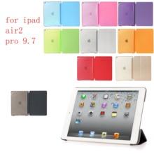 Case for iPad air2 pro 9.7 PC Hard+PU Leather Smart Auto Sleep Wake Ultra Slim Tablet A1566`A1567`A1673`A1674`A16