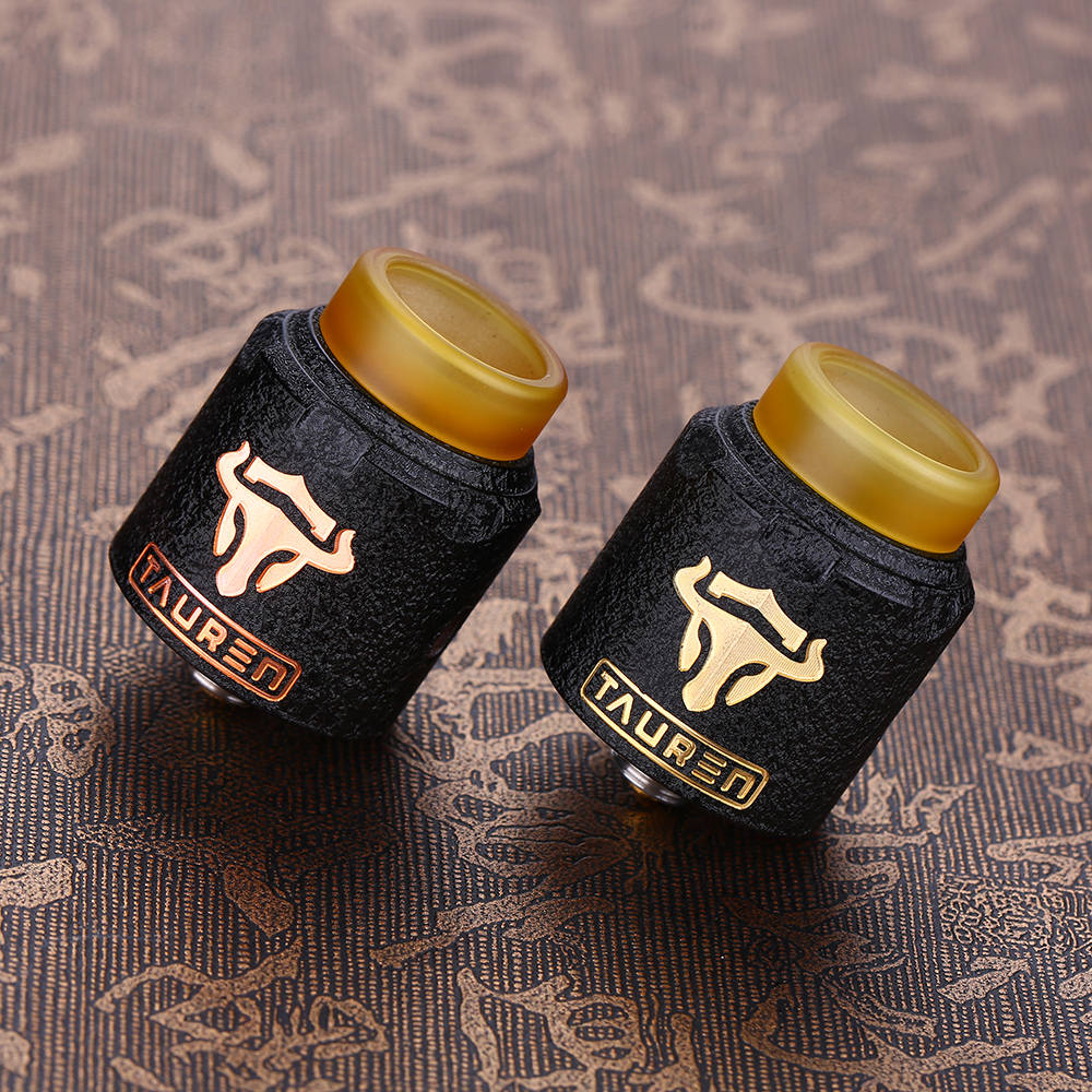 Original THC Tauren RDA Rebuildable Drip Atomizer 24mm Diameter with 28 Micro Air Holes on Two Sides Fit for THC Tauren Mech MOD