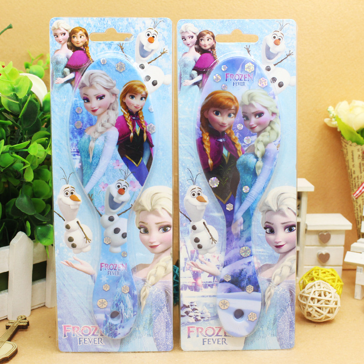 Disney cartoon Frozen children comb Elsa doll accessories airbag massage comb girl birthday gift air cushion comb kid hair comb(China)