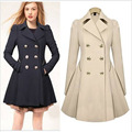 2016 Autumn Winter New Brand Casual Women Coat Long Sleeve Turn Down Collar Slim Pockets Button High Quality Coats LQ200