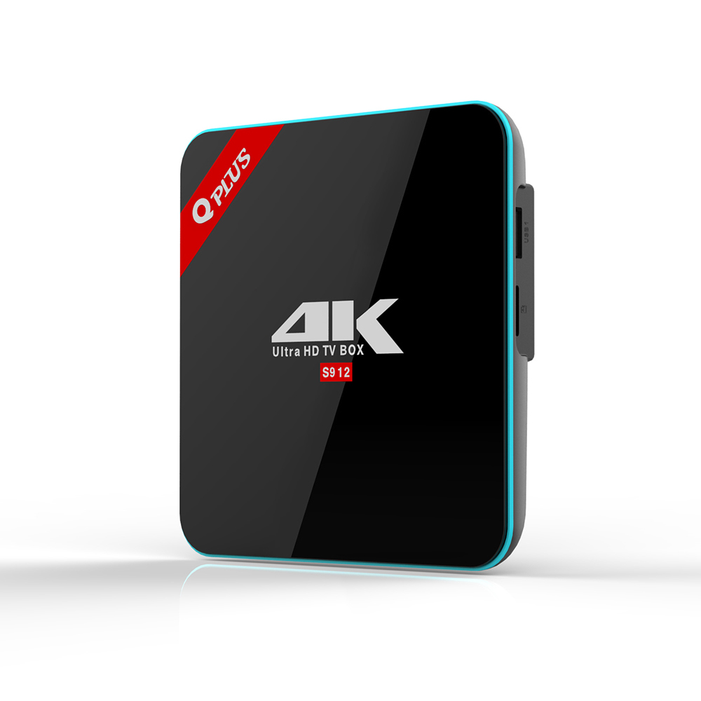 3G/32G Amlogic S912 Android 6.0 TV BOX Octa Core Dual WiFi Q-PLUS Smart Set Top Box Q Plus Media Player BT4.0 4K Like mini pc