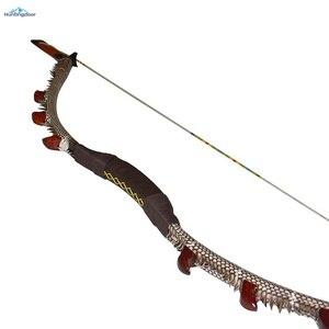 Image 2 - Okçuluk olimpik yay geleneksel ahşap yay ağırlığı 35lbs,40lbs,45lbs,50lbs açık av yayı 57 inç kaldırma ve sağ yay yetişkin için
