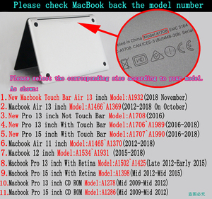 Image 5 - Color painting notebook case for Macbook Air 13 11 Pro Retina 12 13 15 inch Colors Touch Bar for New Air 13 and New Pro 13 15