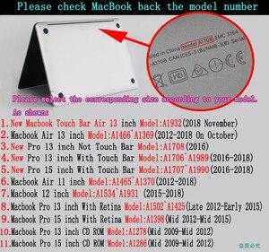 Image 5 - Цветной чехол для ноутбука Macbook Air 13 11 Pro Retina 12 13 15 дюймов цвета сенсорная панель для нового Air 13 и нового Pro 13 15