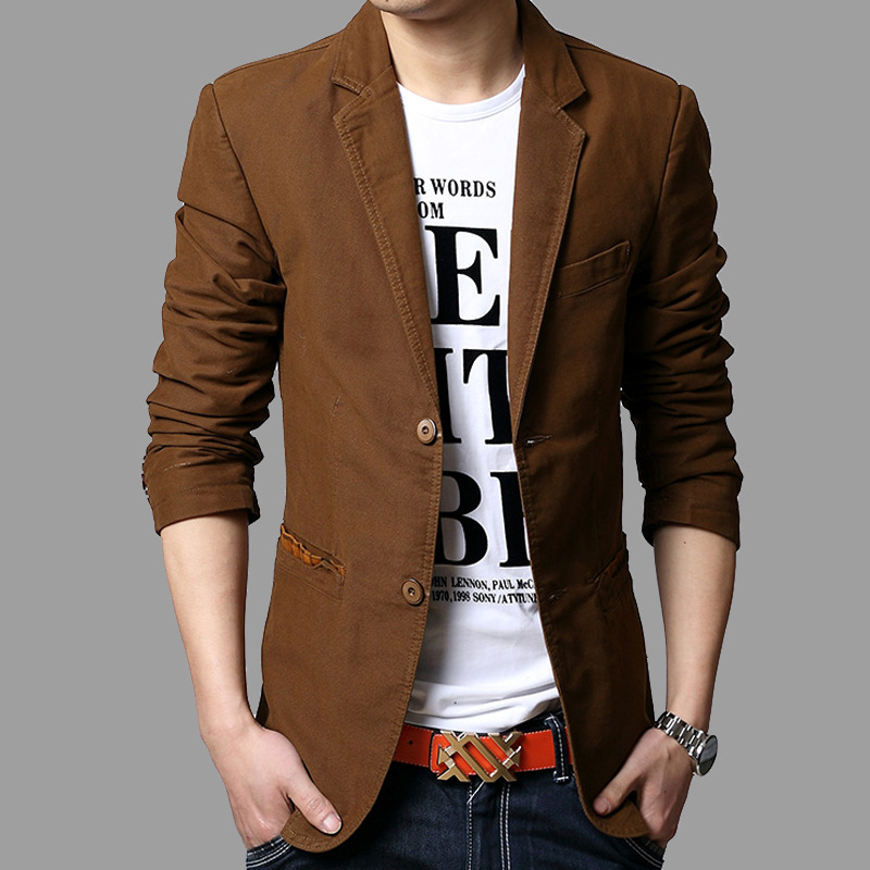 Blazers Jackets Mens: Traje Hombre New Fashion Blazer Men Slim Popular Tops