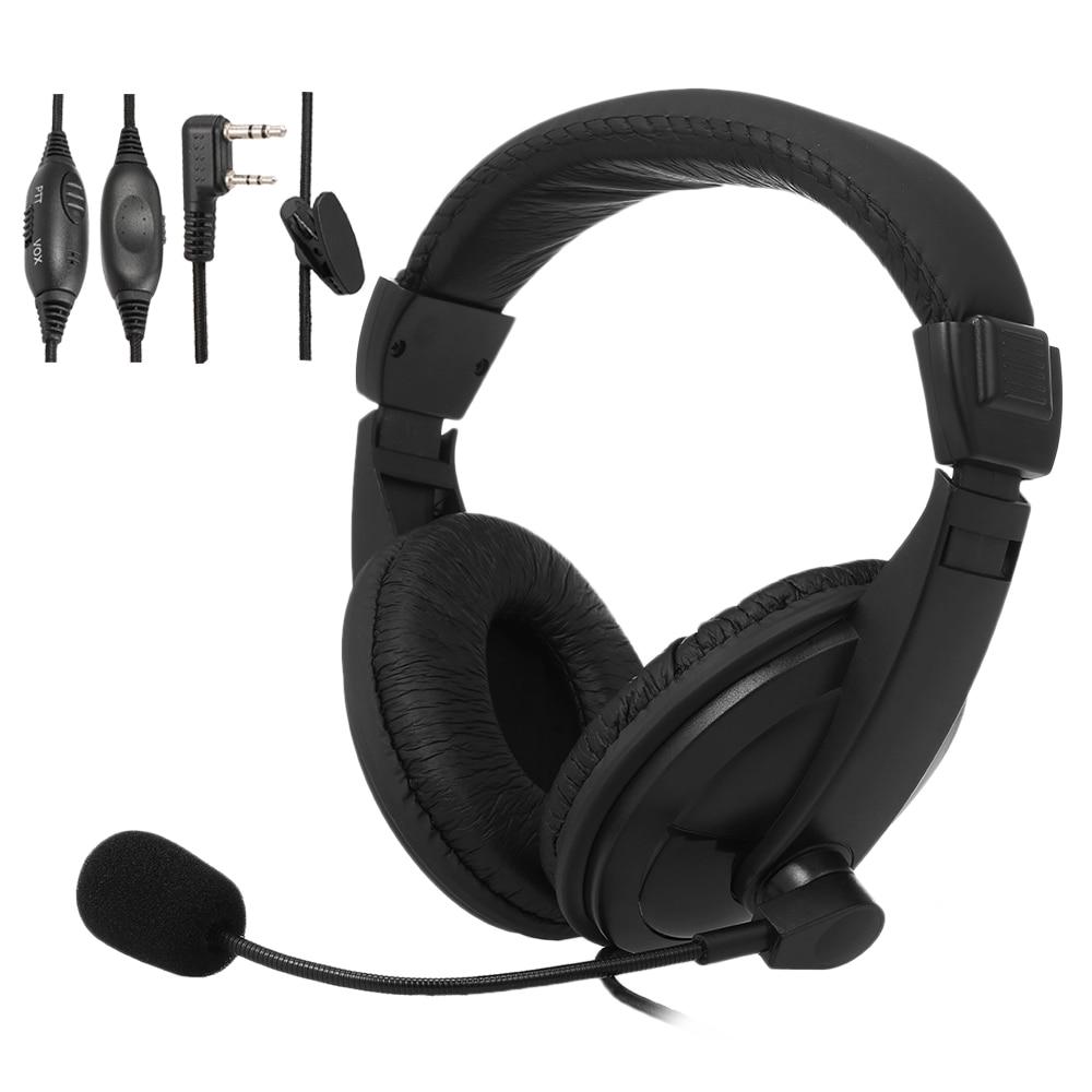 PTT VOX Earpiece Walkie Talkie Headset For Baofeng UV-5R Bf-F8HP Kenwood Radio