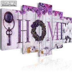 Pełna diamentowe wiertło placu haft dekoracja kwiatowa domu 5D obraz diamentowy DIY ściegu wielu obraz dekoracji domu