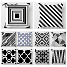 Fuwatacchi Geometric Printed Cushion Cover Black White Throw Pillows  Home Decorative Sofa Living Room Pillowcase