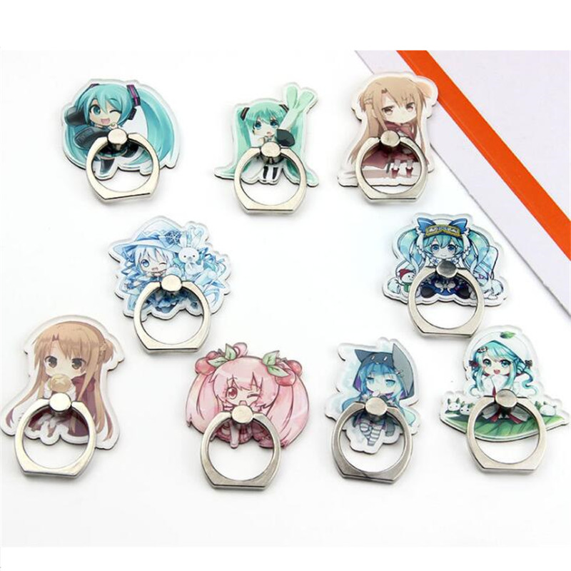 UVR 360 Degree Cartoon Princess Cute Girl Finger Ring Smartphone Stand Holder Mobile Phone Holder For IPhone Huawei All Phone
