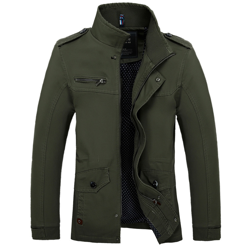 Bolubao Men Jacket Fashion British Style Windbreaker Military Waterproof Men Winter Jacket Coat Army Male Autumn Outerwear