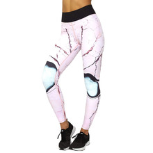 Women Printed Sports   Workout Fitness Exercise Athletic Pants Sport Leggings Running Pants Women Stretchy Gym #30
