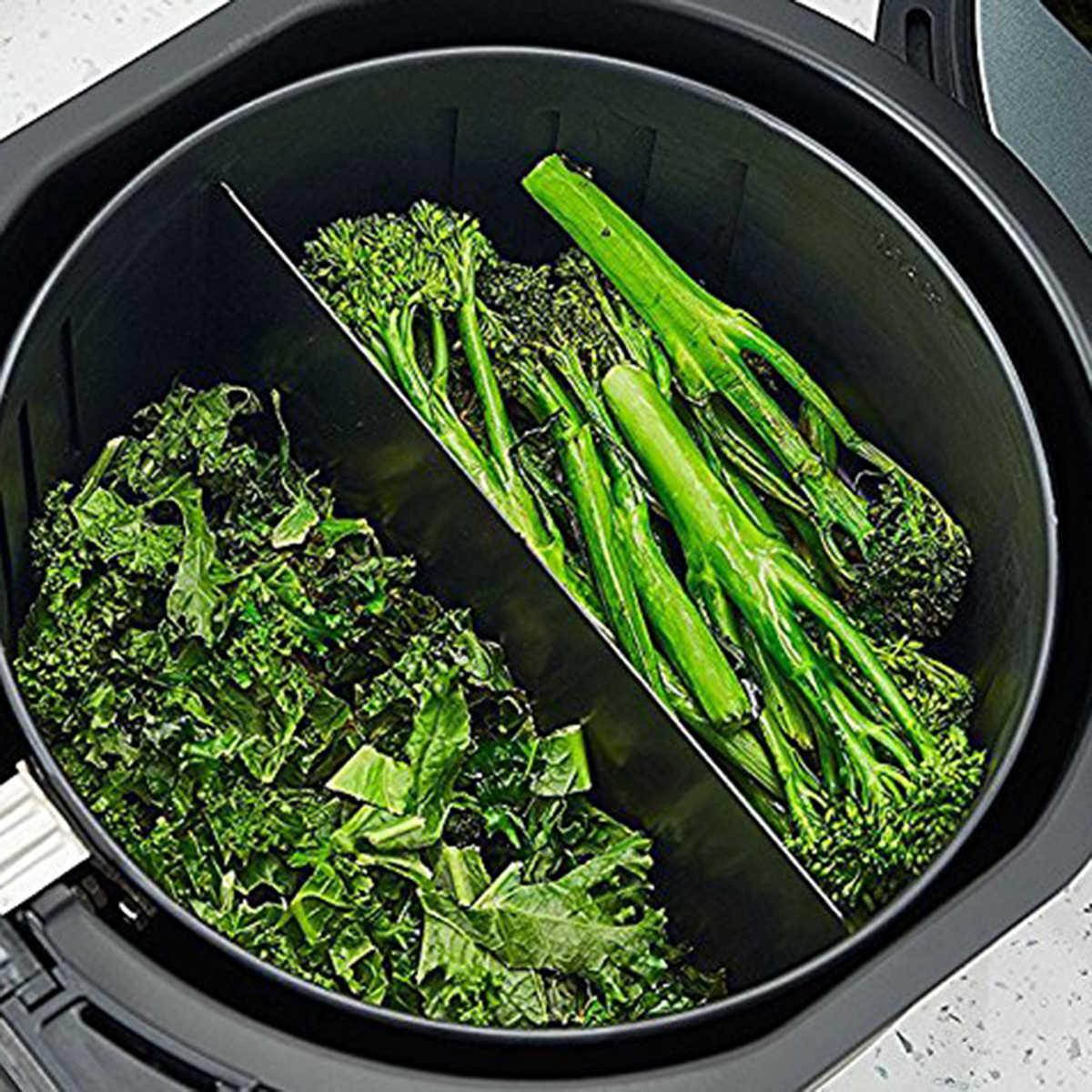 Alta qualidade xl fritadeira de ar cozinhar divisor compatível com 9 polegada cestas de fritadeira de ar cesta divisor mantém alimentos separados