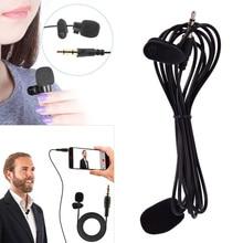 1.5 M มินิแบบพกพาไมโครโฟน Clip on Lapel Lavalier ไมโครโฟน Mikrofo/Microfon สำหรับโทรศัพท์สำหรับแล็ปท็อป