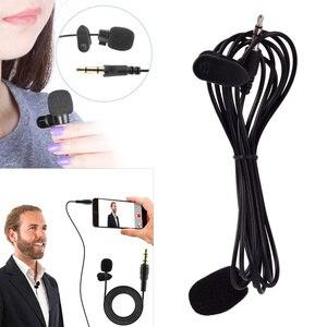 Image 1 - 1.5m Mini przenośny mikrofon Clip on Lapel Lavalier Mic przewodowy mikrofon/mikrofon na telefon do laptopa