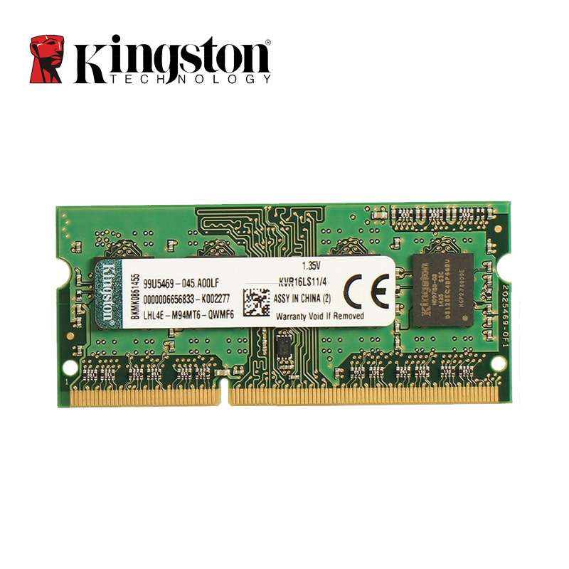 Kingston DDR3 8GB 4GB 1600MHz Memoria RAM for Notebook Laptop Intel DIMM DDR 3 PC3-12800 Memory 100% Original 4 G 8 G