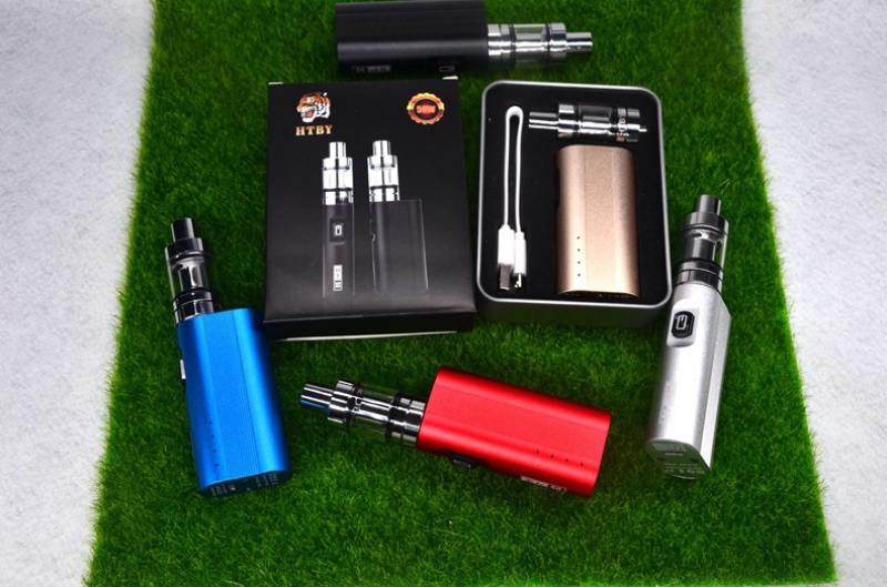 HT 50 Mod Starter Kit Electronic Cigarette 510 Vape 2200mAh Built-in Battery HT50 50W Box Mod 2ml Atomizer Tank Vaporizer Kit