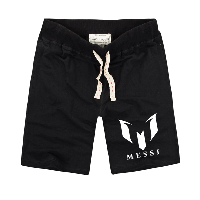 Summer High Quality Men Brand 100% Cotton Barcelona MESSI Printed Men's Casual Shorts Beach Cool Bermuda Masculina Shorts 2018