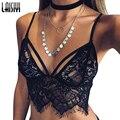 Laisiyi Elegante Crochet Encaje Blanco Tops Mujeres Chaleco Cami Camisola Sexy Blusa Ocasional Del Verano Recortada Crop Top Bustier VE1213