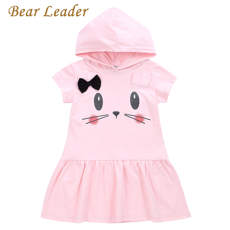 Bear Leader Girls Dress 2017 New Summer Cute Dresses Lace Ball Grown Dress Fashion Print Children Clothing Kids Clothes 3-7Y