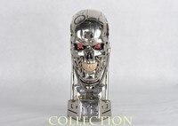 1:1 Терминатор T 800 череп бюст 3D модель череп эндоскелетный Лифт Размер Бюст фигурная Смола светодиодный глаз
