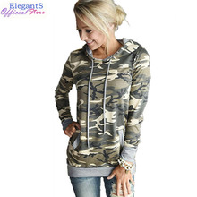 2019 Women Hooded Sweatshirt Camo Hoodies