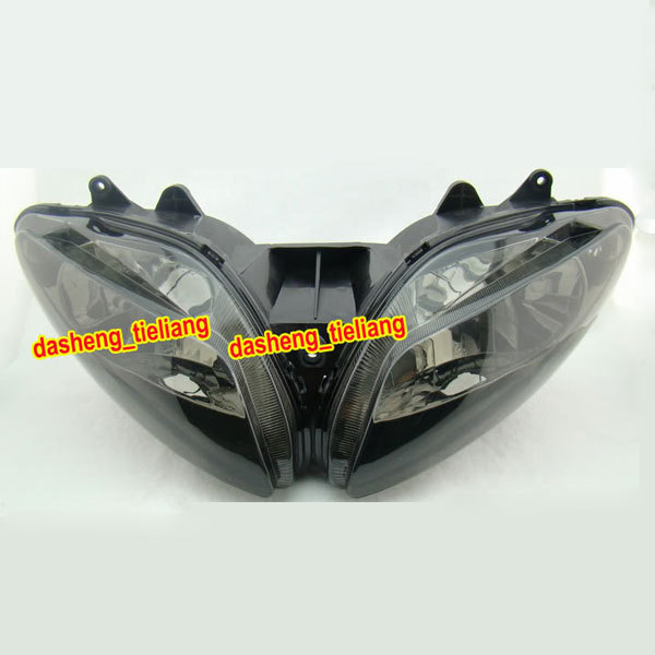 Smoke Headlight  for Motorcycle YAMAHA 2002 2003 YZF-R1 YZF R1 02 03, Black Front Head Lighting Lights, Spare Parts & Accessory
