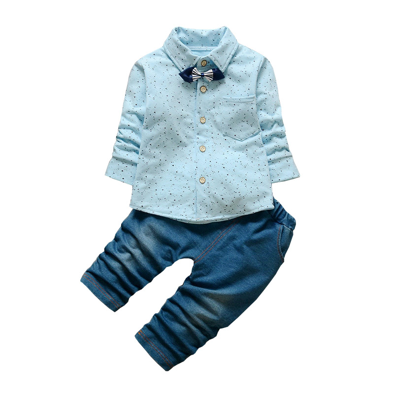 BibiCola Baby Boy Clothing Set Autumn Bebe Sport Suit Children Boy Fashion Clothes Set 2017 New Arrival Infant Boy Shirt+Pants 2pcs set baby clothes set boy