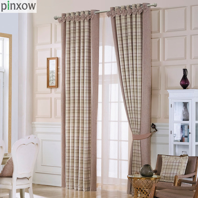 Lujo Escocia Cortinas para sala gruesa TELA ESCOCESA cortinas para ...