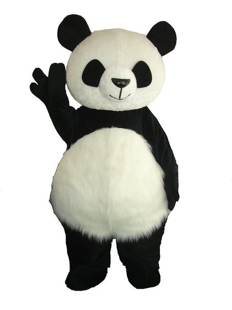 2018 Time-limited Crazy Sale@ Long Hair Panda Bear Animal Cosplay Adult Size Mascot Costumes Fancy Party Dress Suit +epe Head