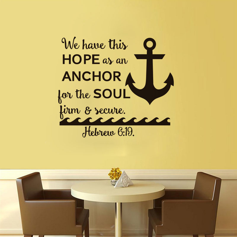 Captivating DCTOP Free Shipping Nautical Anchor Wall Decals We Have This Hope Quotes  Art Stickers Home Decor