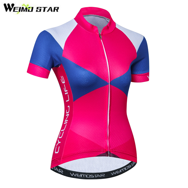 d71571b4a Women Cycling Jersey Short Sleeve Summer MTB Bike Clothing Breathable Girls  Bicycle Shirt Top Clothes Youth Ropa Ciclismo