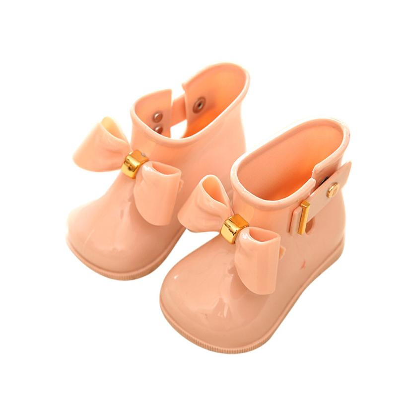 Arloneet Waterproof Rain Shoes Cute Baby Jelly Shoes Girl Shoes Children Bow Rain Boot L0817 #3
