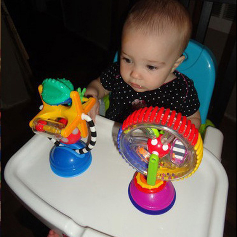 Colorful Newborn Baby Kids Boy Girls Rotating Ferris Wheel Brinquedo Stroller High Chair Rattles Toys For Children