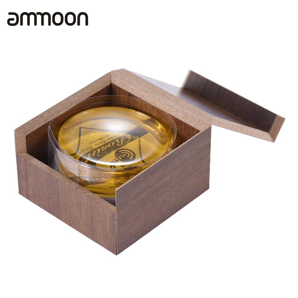 High-Class Transparent Yellow Rosin Resin Colophony Low Dust Handmade Rounded With Box For Violin Viola Cello Bowed String
