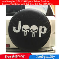 Spare Tire Cover For Jeep Wrangler YJ TJ JK JKU Sports Sahara Freedom Rubicon X & Unlimited X 2/4 door Roll Bar 1995 2016