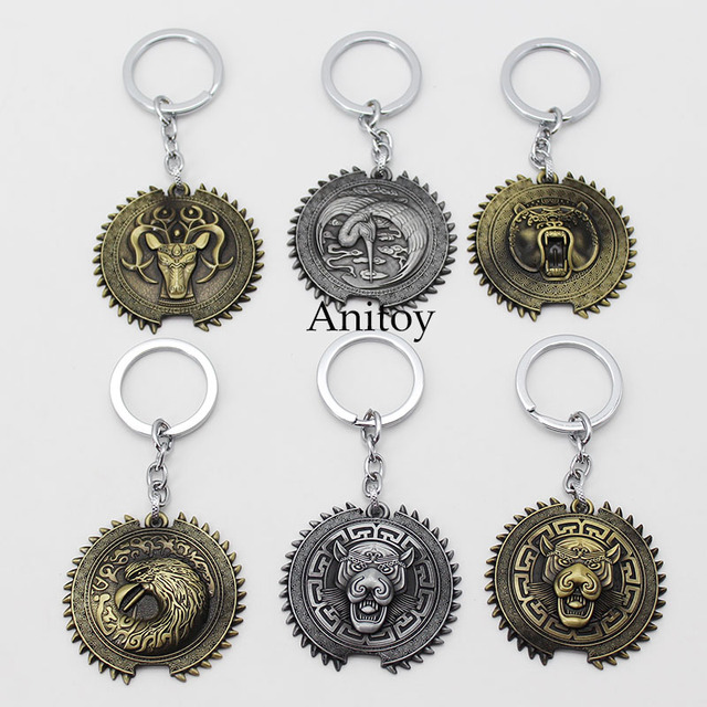 movie the great wall bear crane tiger eagle deer key ring gift metal keychains pendants chaveiro. Black Bedroom Furniture Sets. Home Design Ideas