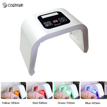 Portable PDT LED photon light Therapy 7 Colors Led Face Mask Light Phototherapy Lamp Machine For Acne Remover Skin Rejuvenation heating light machine for face messager acne spot skin rejuvenation light photon led therapy bacteria killing removal improve