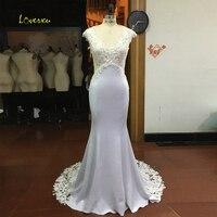 Loverxu Robe De Mariee Beading Lace Mermaid Wedding Dresses 2017 Sexy Appliques Illusion V Neck Trumpet