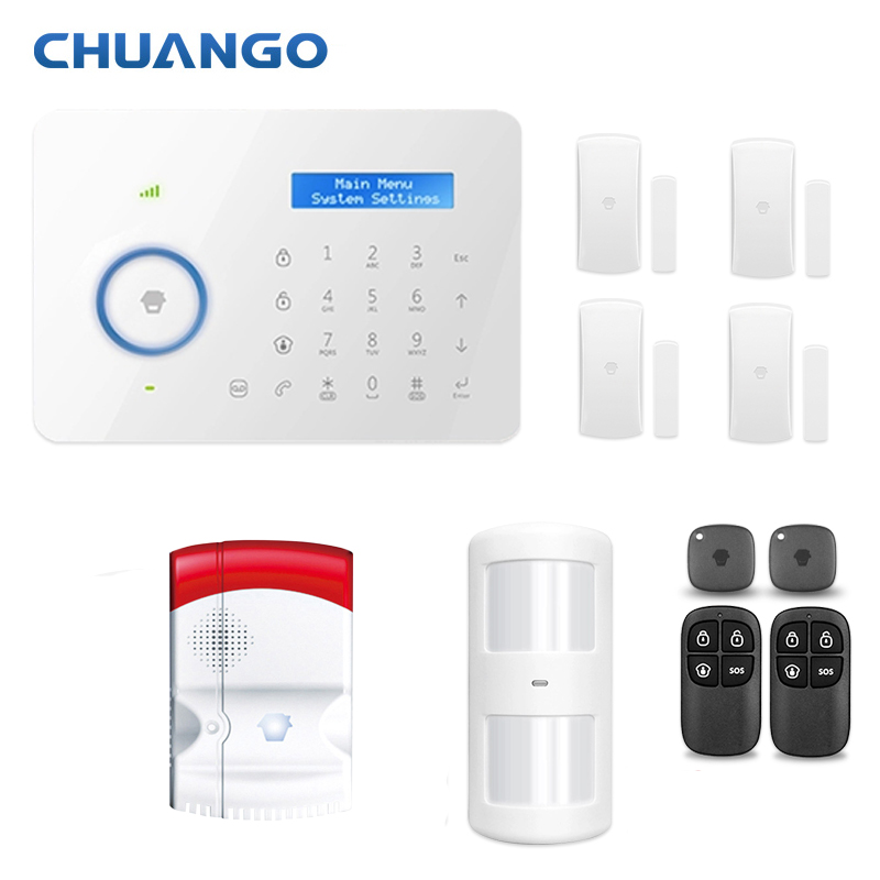 Chuango B11 315mhz Smarts Wireless Home security GSM alarm system gas detector sensor