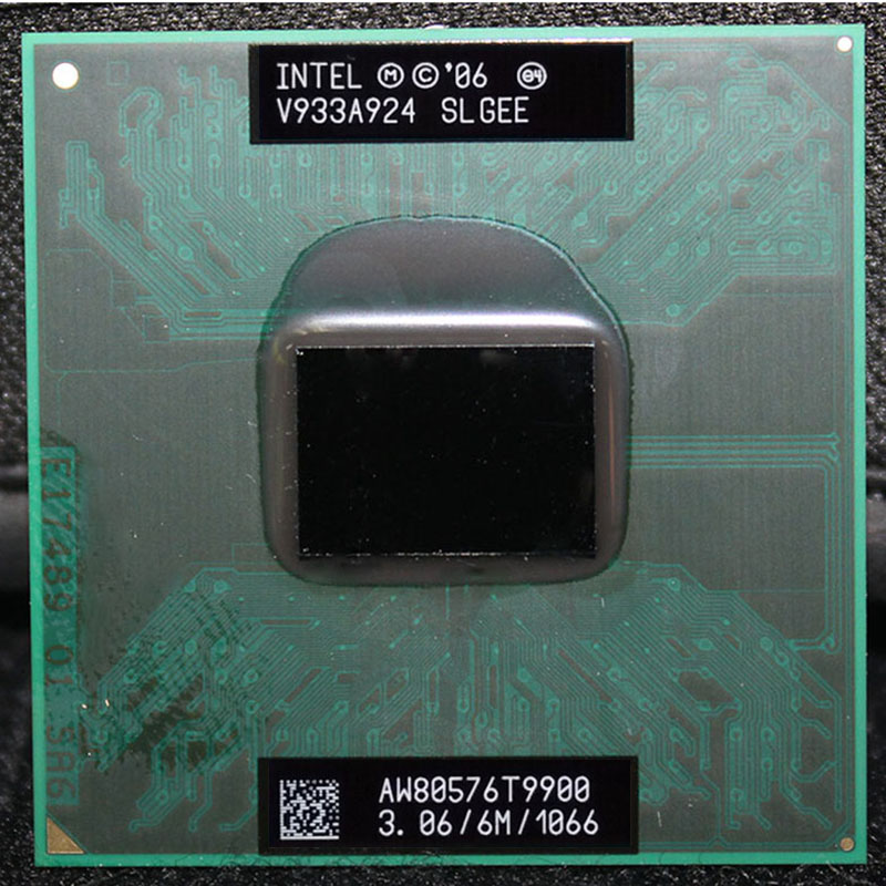 CPU laptop Core 2 Duo T9900 CPU 6M Cache/3.06GHz/1066/Dual-Core Socket 478 PGA Laptop processor forGM45 PM45