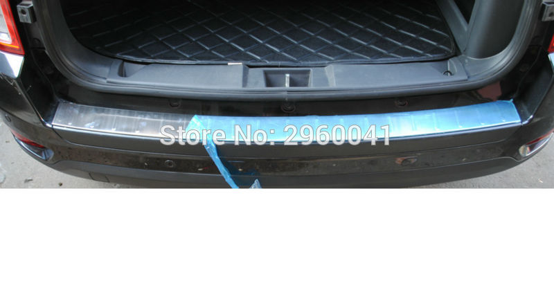 Stainless Steel Outer Rear Bumper Protector Sill Plate Cover Car Styling Trunk Guard Skid Trim For Jepp Compass 2011-2016 stainless steel rear outer bumper protector guard plate for jeep grand cherokee 2014