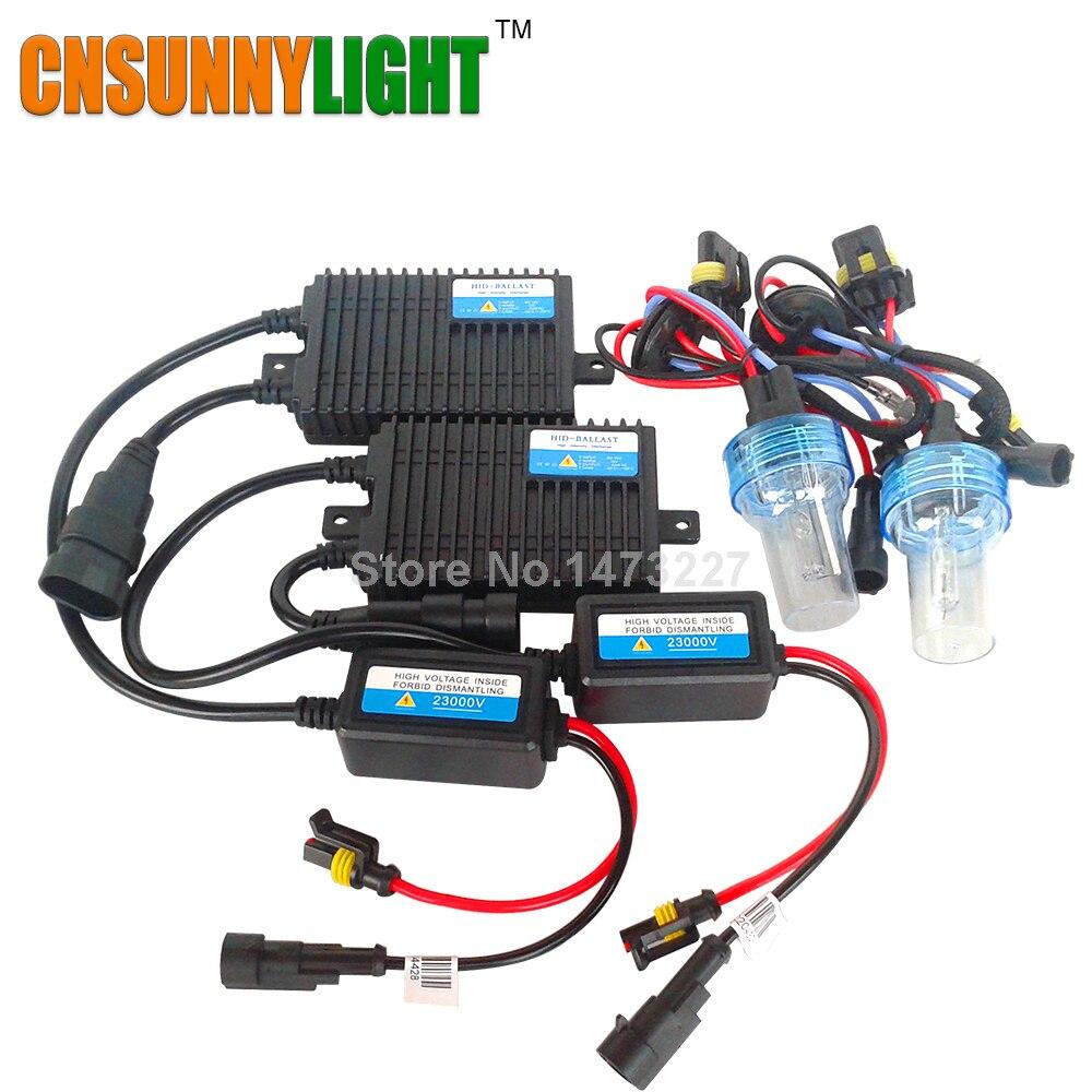 CNSUNNYLIGHT Xenon Hid Conversion kit 55W H1 H3 H7 H8 H11 9005 9006 HB3 HB4 880 Lamp w/ Silm Ballast Blocks for Car Headlight buildreamen2 55w 9005 9006 h1 h3 h7 h8 h9 h11 880 881 hid xenon kit ac ballast bulb 10000k blue car headlight lamp fog light